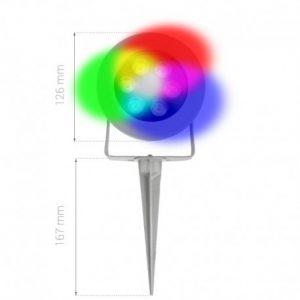 Spot LED RGB pour jardin sur piquets